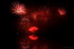 Red power - Fireworks Decazeville 2016 (Sbastien Vermande) Tags: canon7d france midipyrnes mine pit aveyron decazeville fireworks rflexion reflection feuxdartifice nuit night pauselongue longexposure sigma1770exdc vermande