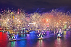 Fabulous Fireworks 2016 (briantang0703) Tags: fireworks hongkong sea water light color night exposure building art architecture reflection cloud 2470mm markiii 5d boat habour city street fabulous