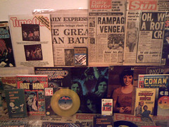 1970's : (Retro King) Tags: 1976 records magazines newspapers 1971 retro 1977 vinyl albums singles cassettes comicbooks books 1970s vintage collectables