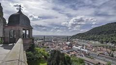 Heidelberg Castle  - Heidelberger Schloss (langtimoalex) Tags: heidelberg heidelberger schloss castle panorama clouds blue sky blauer himmel tal berg nikond7000 110160 mm f28 architecture city landscape landschaft turm germany deutschland tokina atx 116 pro dx 1116mm