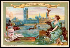 Liebig Tradecard S557 - The River Thames (cigcardpix) Tags: tradecards advertising ephemera vintage liebig chromo