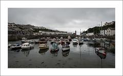 Porthleven III (Christa (ch-cnb)) Tags: cornwall england uk english channel porthleven coast harbour historic fishing port rain fog boat sailboat olympus omd em5mkii microfourthirds mzd1240mm pro zuiko