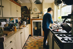 (SamBHart) Tags: nikonfm2 35mmfilm kodakultramax400 35mm film 24mm nikkorlens kodak europe travel ipswich england uk british kitchen old fashioned oldfashioned vintage traditional boy