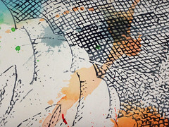 DSC0966857 (scott_waterman) Tags: scottwaterman painting paper ink watercolor gouache lotus lotusflower detail