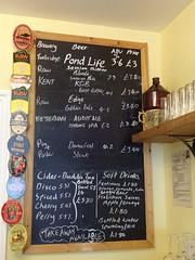 Beer list at the Long Pond, Eltham, London SE9 (Kake .) Tags: micropub pub longpond eltham london se9