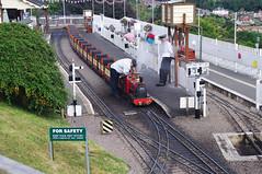 RD13480.  The 7 inch gauge Pecorama Beer Heights Light Railway at Beer near Seaton in East Devon. (Ron Fisher) Tags: bhlr beerheightslightrailway pecorama beer devon eastdevon england europe gb greatbritain uk unitedkingdom pentax pentaxkx tamron tamron18200mm tamronaf18200mmf3563xrdiiildasphericalif 7inchgauge miniaturerailway train rail railway railroad eisenbahn chemindefer steam steamlocomotive steamengine locomotive vehicle outdoor uksteam