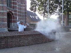 P9154699 (Hervormd-Sprang.nl) Tags: restauratie kerk muur voeg schoonmaken