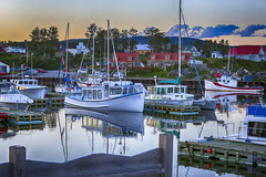 Marina (Danny VB) Tags: gaspsie dock boat fishing bateau reflet reflection canon ef70200mmf28lisiiusm 6d marina aftersunset light fall autumn qubec canada