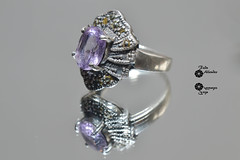 Anillo de Amatista (fedu.allendes) Tags: ring reflejo reflection amethyst photo photography photograph fotografa foto anillo espejo mirror