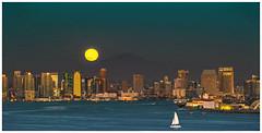Harvest Moon over San Diego 9-16-16 (sharp shooter2011) Tags: sandiego harvestmoon city september162016