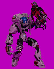 Halfire Reborn - 2 (Folisk) Tags: lego ldd digital designer ccbs hero factory bionicle technic pov metal pursuit crimson xbow pose