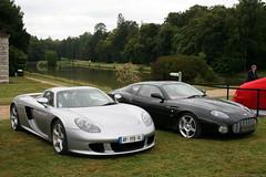 Porsche Carrera GT & Aston Martin DB7 Zagato (Clment Tainturier) Tags: chateau de chantilly arts et elegance 2016 france porsche carrera gt aston martin db7 zagato