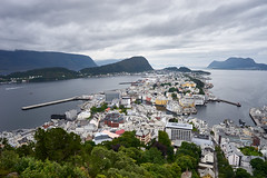 Alesund, View from above (georg19621) Tags: architecture landscape water panorama season summer church building norwegen