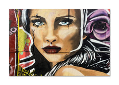 Street art, Brighton (hehaden) Tags: woman face art streetart graffiti blackrock brighton sussex sel24f18z