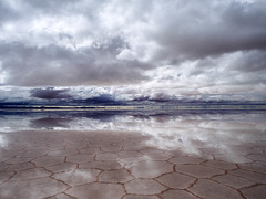Epic cloud reflection in Solar lake in Bolivia / Epische Wolke Reflexion in Solar-See in Bolivien