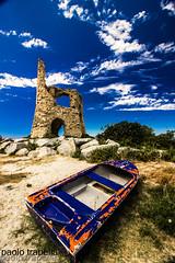 La torretta (Briatico) (paolotrapella) Tags: sky tower blue clouds briatico calabria boat nuvole blu torre barca la torretta canon 1018
