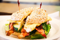 "bagel sandwich • <a style=""font-size:0.8em;"" href=""https://www.flickr.com/photos/84562743@N04/7743492468/"" target=""_blank"">View on Flickr</a>"