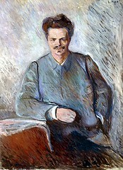 Munch, Edvard (1863-1944) - 1892 August Strindberg (RasMarley) Tags: portrait 19thcentury norwegian painter impressionism much 1890s 1892 edvardmunch artistportrait auguststrindberg figureportrait