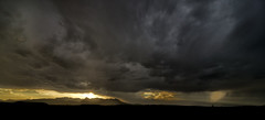 Chisos Storm (Tom Haymes) Tags: sunset clouds nationalpark dusk thunderstorm bigbendnationalpark bigbend usnationalpark chisosmountains bigbendtexas ominousclouds