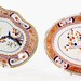 120. (2) English Imari Palette Dishes