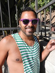 DSCN8259 (CAHairyBear) Tags: shirtless man men uomo hombre homme poolparty hom
