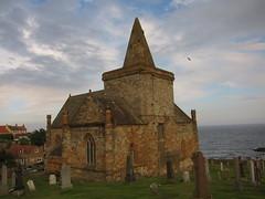 St Monans Church (jleathers) Tags: cemetery scotland seaside fife britain dusk stmonans eastneukoffife churchofscotland eastneuk