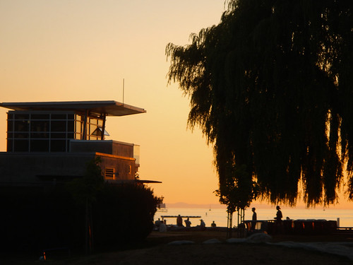 Kits Beach House at Sunset