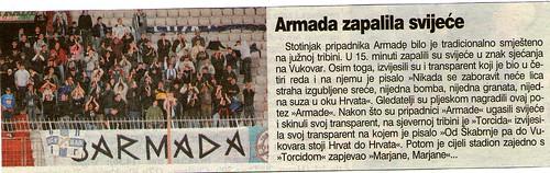 Armada zapalila svijeće (Novi List, 19.11.2006)