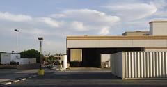 Hasting Ranch_0121 (Thomas Willard) Tags: california ranch truck losangeles parking lot warehouse modular hastings trailer pasadena asphalt stucco tar sierramadre perpendicularplanes
