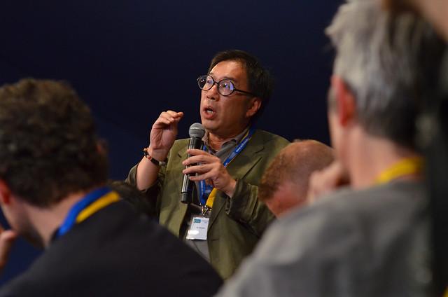 Xi Chuan at the Edinburgh World Writers' Conference