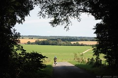 into the light (zombikombi1959) Tags: summer england hot green bike bicycle cycling cyclist ride father son august hampshire meonvalley heatwave coutryside