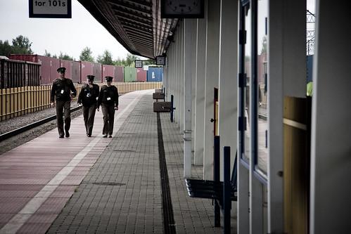 Polish border guards (UNHCR Central Europe) Tags: border poland railway railwaystation asylum bordercrossing centraleurope borderguards terespol
