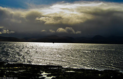 The Darkness Is Coming (Neil. Moralee) Tags: uk travel sea england sun seascape storm water glitter clouds scotland boat waves sailing sail thunder neilmoralee