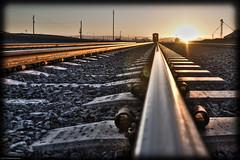 Good morning Yuma (avingochea) Tags: railroad morning arizona orange sun train sunrise rocks traintracks tracks rise yuma