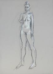 E. (feldweg) Tags: female chalk akt drawing charcoal figure feldweg zeichnung aktzeichnung wiesenakt