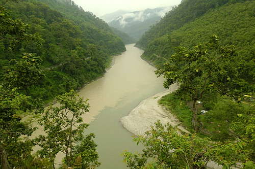Sikkim, Himalayas: Different coloured rivers