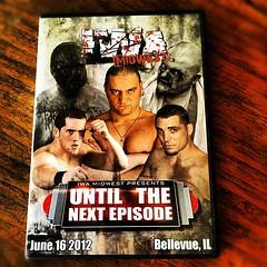 """IWA Midwest DVD """"Until The Next Episode"""" (Freebirds Taka) Tags: dvd wrestling iphone ianrotten kyleoreilly devonmoore instagram drakeyounger matttremont iwamidwest"""
