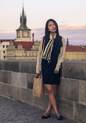 Prague: Portrait on Charles Bridge (Karlv most) (daniel.frauchiger) Tags: city portrait woman cute girl beautiful asian pretty prague prag praha tschechien panasonic czechrepublic taiwanese m43 gf1