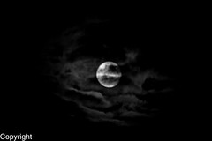 Moonshine (ako_ni) Tags: nightphotography bw moon night weird nightimages cloudy 70300mm walsall eery moonshine slowshutterspeed nightlandscape canon450d