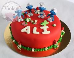 Smurfs cake   (Violet.bh) Tags: cake birthdaycake smurfs  bahrain