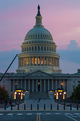 Friday Night Capitol (Tony DeFilippo) Tags: evening washingtondc twilight nikon dcist bluehour underconstruction capitoldome dcmonument d700 nikon10525ais dcmetrocentric