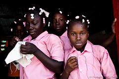 Schoolgirls in uniform - HATI - (C.Stramba-Badiali) Tags: school portrait girl face look culture documentary schoolchildren tradition schoolgirl visage regard grandanse haitian jrmie travelphotography abricots blackskin lookingatcamera ayiti hati pinkuniform regardcamera degerme