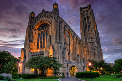 The Rock (Brian Koprowski) Tags: sunset chicago church night evening illinois university exterior pentax gothic chapel learning bluehour universityofchicago hdr rockefellerchapel 18mm uofc pentaxk5 briankoprowski bkoprowski