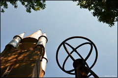 Church & Rocket climber (shireye) Tags: blue trees sky ontario green playground high nikon lookup rocket summertime baileboro bewdley d7000