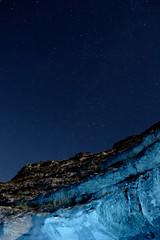 Light at night (Stefan Botnari) Tags: blue light sky color night painting stars star long exposure cave orheiul vechi