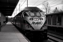 "MARC Train lead by MP36PH-3C • <a style=""font-size:0.8em;"" href=""http://www.flickr.com/photos/59137086@N08/7895755860/"" target=""_blank"">View on Flickr</a>"