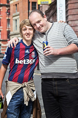 Stoke City (tootdood) Tags: street city portrait manchester team dale away shirts fans draw stoke wigan canon600d