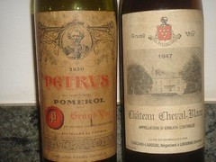 1950 Petrus and 1947 Cheval Blanc make a nice pair