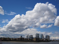 The giant cloud over Canary Wharf (Andy Worthington) Tags: london clouds skyscrapers greenwich rivers canarywharf riverthames e14 thamespath onecanadasquare isleofdogs se10 andyworthington lovellswharf