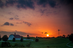 Down On The Farm (nailbender) Tags: travel sunset usa windmill barn landscape farm nailbender hallmarkfarm